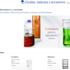 Sección de material de laboratorio en Amazon