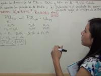 Cálculo del grado de disociación del pentacloruro de fósforo
