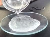 Enfriamiento rápido de una solución de acetato sódico