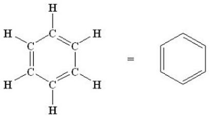 Estructura Lewis del benceno