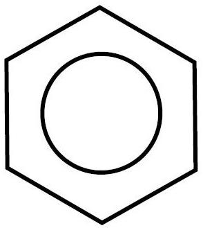 Forma cíclica resonante de la molécula de benceno