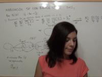 Hibridación sp con enlaces simples: ejemplo del cloruro de berilio, BeCl2
