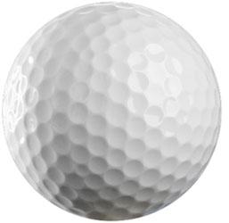 Pelota de golf: su envoltura está fabricada en polietileno, un polímero de eteno