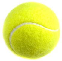 La pelota de tenis está hecha de caucho hueco y recubierta de fibra sintética