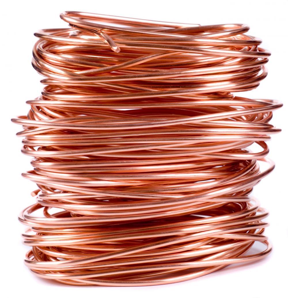 Hilos de cobre: ejemplo de la ductilidad de los metales
