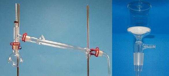 Materiales de vidrio borosilicato de laboratorio