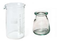 Vasos de laboratorio fabricado en borosilicato y vaso de cal sodada