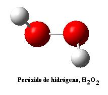 Estructura química del peróxido de hidrógeno