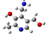 Estructura química de la piridoxamina, un vitámero de la vitamina B6