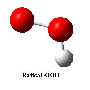 Estructura química del radical hidroperoxilo