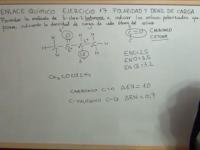 Enlace químico ejercicio 17