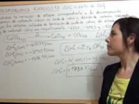 Entalpía de la reacción de descomposición del CaCO3