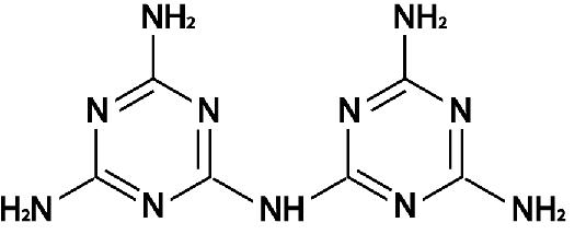 Estructura de la heptacina melam