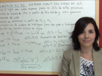 Predecir la variación de entropía de algunas recciones
