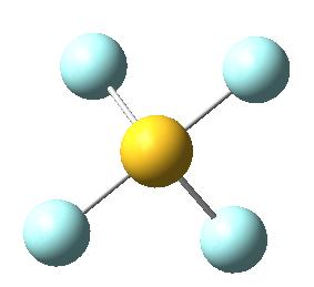 Molécula de tetrafluoruro de azufre, SF4: perspectiva 2