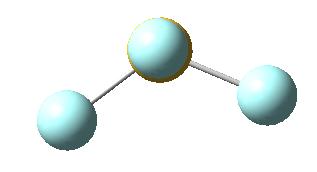 Molécula de tetrafluoruro de azufre, SF4: perspectiva 3