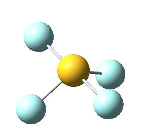 Molécula de tetrafluoruro de azufre, SF4: perspectiva 4