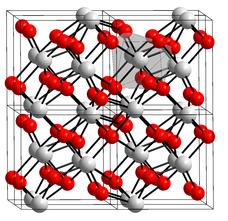 Estructura química del óxido de circonio o circonita