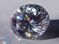 Gema de zirconita: gran similitud con el diamante