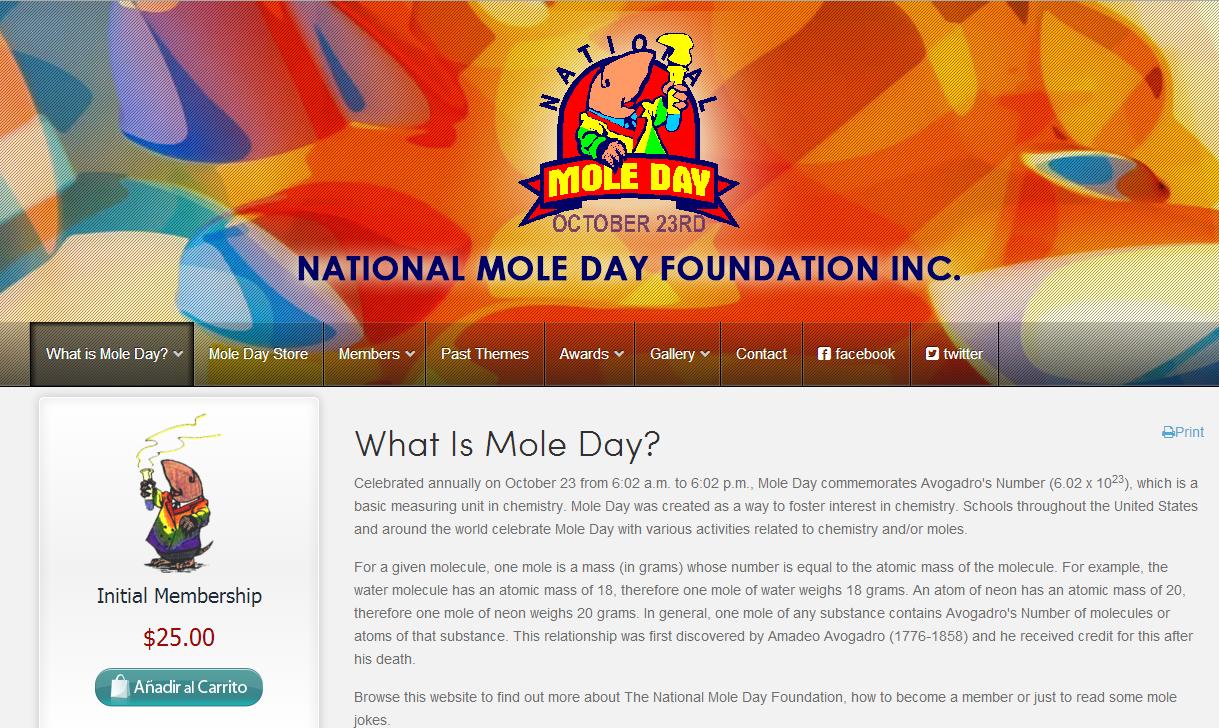 Día del Mol página oficial