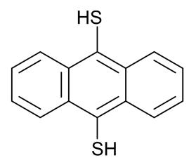 Molécula de 9,10-ditioantraceno: una molécula con pies