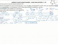 Ejercicio de selectividad de Madrid, equilibrio químico del fluoruro de hidrógeno