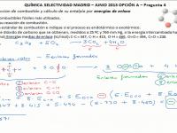 Ejercicio química selectividad Madrid junio 2013 termoquímica