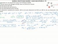 Cálculo del grado de disociación y la constante de acidez del HCN