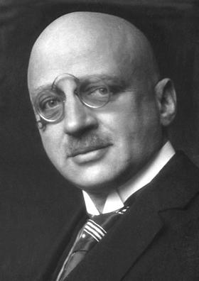 Fritz Haber, químico alemán, Premio Nobel de Química en 1918