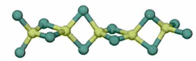 Estructura del cloruro de berilio cuando se encuentra en estado sólido