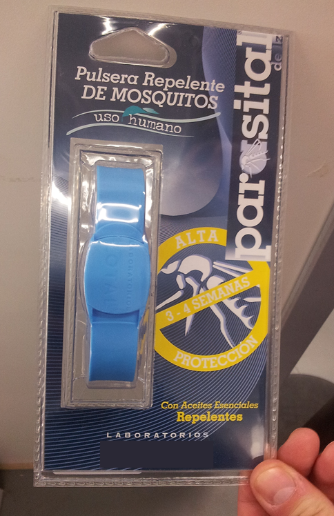 Las pulseras repelentes de mosquitos usan geraniol