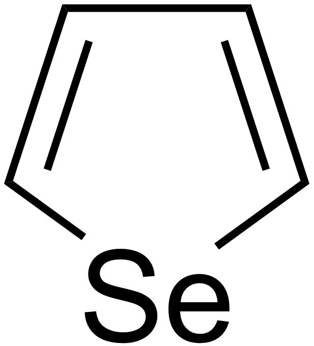 Estructura química del selenofeno, heterociclo con selenio
