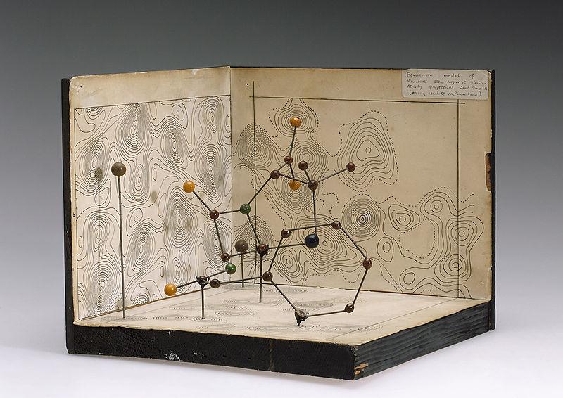 Modelo molecular de la penicilina de Dorothy Hodgkin