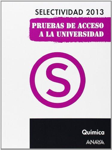 Portada libro preparar química Selectividad 2013