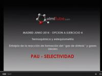 Química selectividad Madrid junio 2014: termoquímica y estequiometría