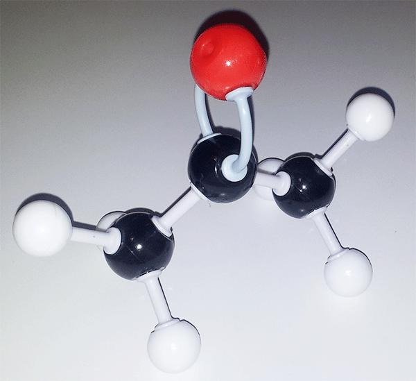 Modelo molecular de la acetona