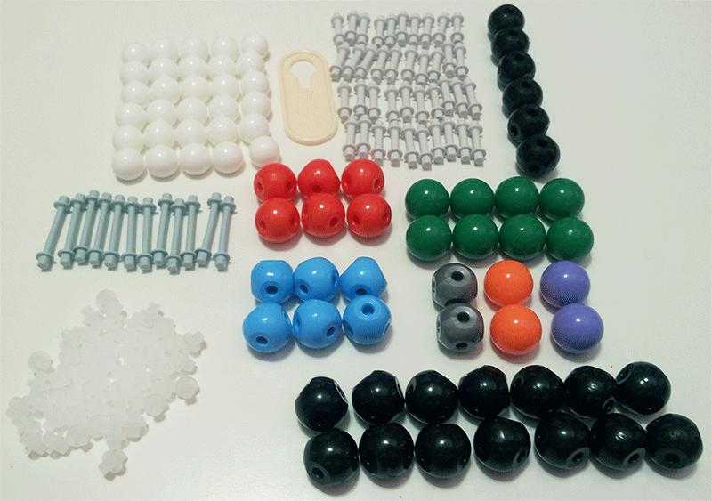 Kit modelo molecular bolas y varillas