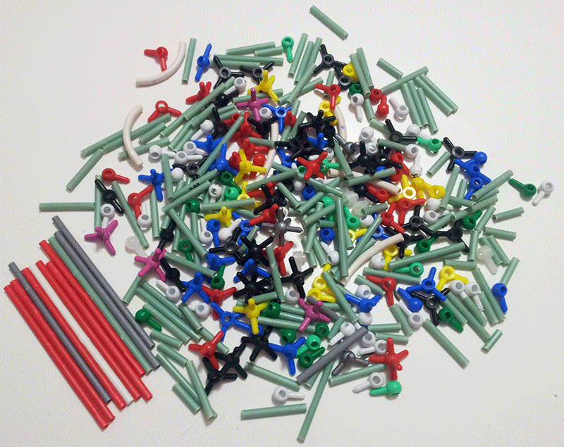 Kit modelos moleculares varillas