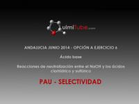 Ejercicio de selectividad de Andalucía, junio de 2014, ácido base