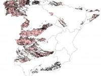 Mapa de distribución del radón en edificios de España
