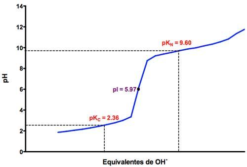 Valoración ácido-base del aminoácido glicina
