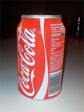 Bebida carbonata: contiene ácido carbónico