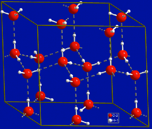 Estructura cristalina del hielo