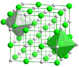 Estructura cristalina de la sal gema