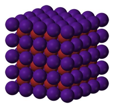 Estructura cristalina del bromuro de cesio