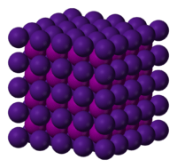 Estructura cristalina del yoduro de cesio