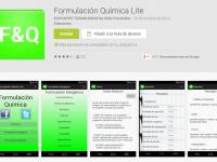 2 aplicaciones móviles para formulación química