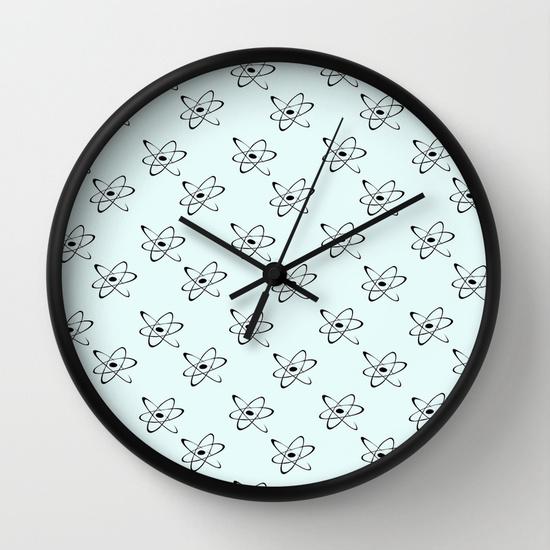 Reloj de pared atomic wallpaper