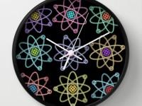 """12 relojes """"atómicos"""" para una pared con química"""