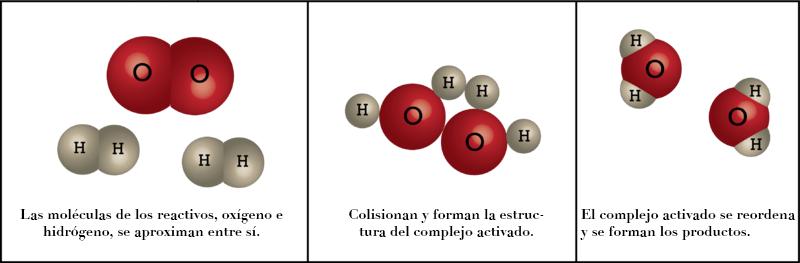 Complejo activado entre el oxígeno y el hidrógeno
